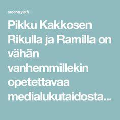 Pikku Kakkosen Rikulla ja Ramilla on vähän vanhemmillekin opetettavaa medialukutaidosta. | Kioski trending | TV | Areena | yle.fi Tv, Television Set