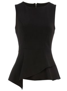 This top + fitted black pencil skirt = peplum-style LBD.