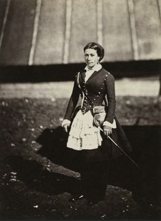 A cantinière in regimental jacket at the Crimean War (1854-1856). Photograph by Roger Fenton