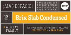 Awesome color palette - grays and warm yellow. Brix font by HDV Fonts