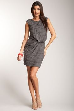Guess Pleated Texture Knit Dress