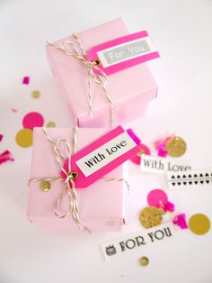 Pink & Gold DIY Birthday Party Decor #Brother #LabelIt @birdsparty