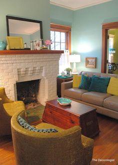 retro eclectic living room by Kristie Barnett, The Decorologist