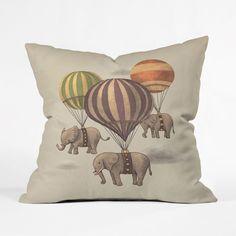 Floating Elephants Pillow Cover | dotandbo.com