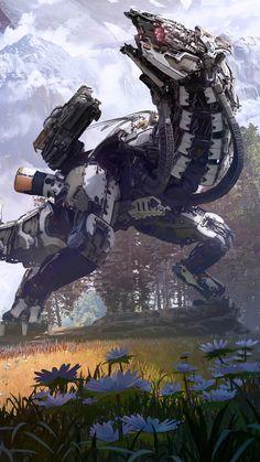 ドナーキーファー - Everything About Playstation Horizon Zero Dawn Robot, Horizon Zero Down, Horizon Zero Dawn Aloy, Horizon Zero Dawn Wallpaper, Zero Wallpaper, Art Et Design, Graphic Design, Robot Animal, Game Concept Art