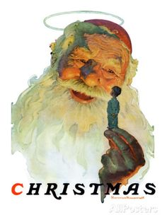 """""""Christmas, 1927"""" (King Kong Santa), December 3,1927 Giclee Print by Norman Rockwell at AllPosters.com"""