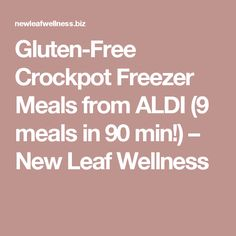 Gluten-Free Crockpot Freezer Meals from ALDI (9 meals in 90 min!) – New Leaf Wellness