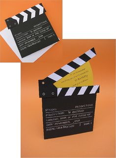 Filmmaker Birthday - - It opens like a normal card, but the hinged clapper opens as well to reveal another message. Pop Up Cards, Cute Cards, Diy Cards, Homemade Birthday Cards, Diy Birthday, Diy Gifts For Friends, Cards For Friends, Diy Arts And Crafts, Paper Crafts