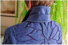 I love the detail on this coat which was designed and made by Maria Podor, Halifax, Nova Scotia.