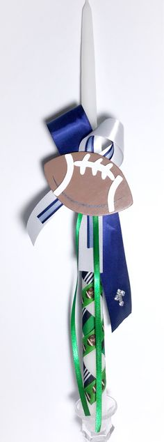 Items similar to Football - Greek Easter Candle (Lambatha) on Etsy Easter Candle, Orthodox Easter, Greek Easter, Football Themes, Girl Christening, Oil Bottle, Baby Shower, Candles, Unique Jewelry
