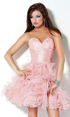 Short Strapless Sweetheart Ruffled Jovani Dress 171780 at PromGirl.com