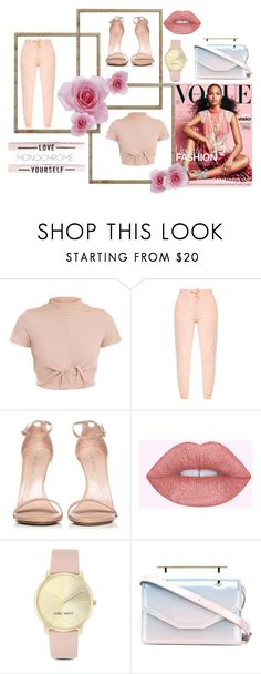 """#25"" by s-fashionalien ❤ liked on Polyvore featuring Stuart Weitzman, Nine West, M2Malletier, outfit and Pink"