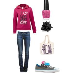 Casual, created by alybio on Polyvore