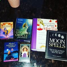 Happy Mother's Day to me! Super excited about my new decks and these new books! Can't wait to dig into these and share these cards and my findings with you!  #intuition #empath #tarot #archangelmichael #mermaid #goddess #tarotcards #dailyreading #spells #moon #moonspell #medium #future #life #gratitude #thankful by theleospiritualist