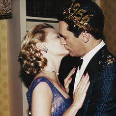 Mad Men: New Year Celebration, Don and Betty Draper