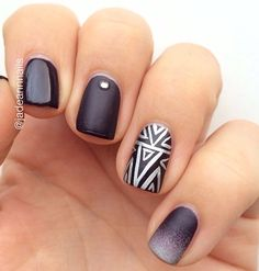 Gorgeous use of accent nails!