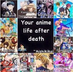 Fairy Tail - June (Poor people who got AOT, TG and / or Another (a lot of deaths..) || Anime