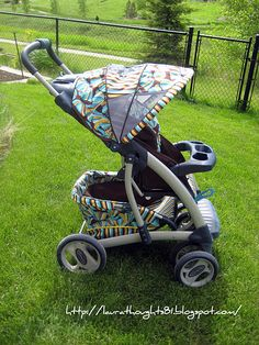 great tutorial on recovering a stroller...looks a bit difficult, but may be worth it.