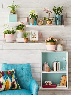 Those shelves I just discovered on IKEA..   These have been painted.. I like !  Here is the link to those http://www.ikea.com/us/en/catalog/products/46693309/   7.99 ..great price. - decorating blog