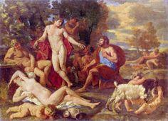 Midas e Baco, por Nicolas Poussin (1594-1665)
