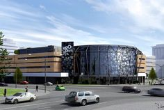 Торговый центр «Эгомолл», г. Москва. Использованы навесные вентилируемые фасады Ронсон-100 (крепление в межэтажные перекрытия)