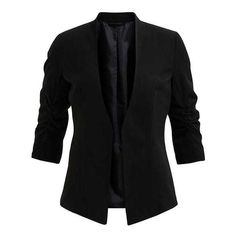 Vila VIHER Blazer ❤ liked on Polyvore featuring outerwear, jackets, blazers and blazer jacket