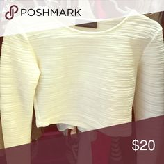 NWOT Storm and Marie crop top (runs a bit small) long sleeve ivory crop top, heavy weight perfect for winter wear Storm and marie Tops Crop Tops