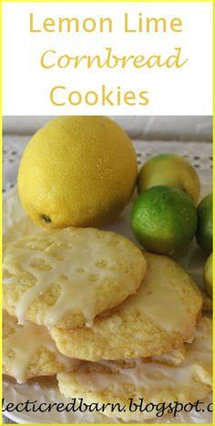 Eclectic Red Barn: Jiffy Lemon-Lime Cornbread Cookies More Jiffy Mix Recipes, Jiffy Cornbread Recipes, Cornmeal Recipes, Bisquick Recipes, Cornbread Muffins, Rock Crock Recipes, Chef Recipes, Cookie Recipes, Dessert Recipes