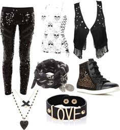 """""""awesome rockers outfit right?!!!!"""" by cjinternetsurfer ❤ liked on Polyvore"""