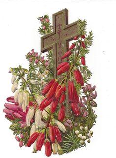 Victorian Die Cut Scrap Easter Cross