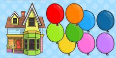 Don;t worry about drawing your little house and balloons for display, we've done it for you with the Editable Floating House Display Pack by Twinkl!