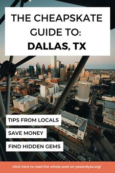 Looking for cheap Dallas travel tips? You're in the right place! Read on for cheap lodging, cheap food, and cheap things to do! #Dallas #cheaptravel #budgettravel #Dallastraveltips Usa Travel Guide, Travel Advice, Travel Usa, Travel Guides, Travel Tips, Dallas Travel, Texas Travel, Cheap Travel, Budget Travel