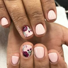 Romantic girlie accent nail this would look good even if it was painted on all nails.