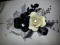 Sherri Hill 3874 Prom and Homecoming Dress 2013 Flower Corsage, Wrist Corsage, Prom Corsage And Boutonniere, Boutonnieres, Black And Silver Dress, Black White, Nice Dresses, Prom Dresses, Prom Flowers
