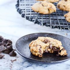Skinny, gluten-free, #vegan cookies that will change your life. Trust me. The perfect dessert that's also healthy enough for breakfast.