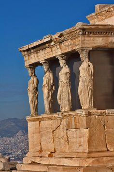 Caryatid Porch, Athens Acropolis  Perhaps the most important ancient monument in the Western world - where the concept of democracy was born over 2,500 years ago.