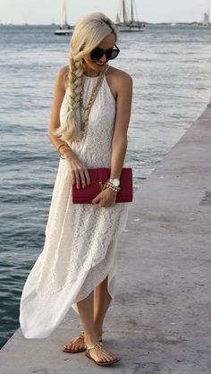 Love the dress and her thick gorgeous braid!
