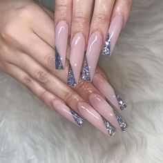 ✔ most sexy and trendy prom and wedding acrylic nails and matte nails for this season 24 💙 . Wedding Acrylic Nails, Bling Acrylic Nails, Aycrlic Nails, Summer Acrylic Nails, Best Acrylic Nails, Bling Nails, Acrylic Nail Designs, Wedding Nails, Hair And Nails