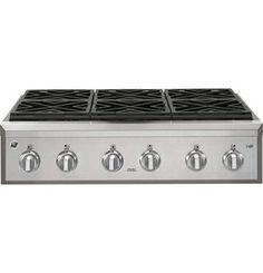 "7. GE Cafe CGU366SEHSS 36"" Gas Rangetop Soho Loft, Electric Cooktop, Farmhouse Kitchens, Modern Kitchens, Fogo, Kitchen Lighting, Kitchen Layouts, Kitchen Ideas, Hampshire House"