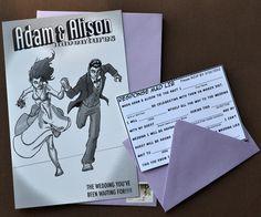 holy crap awesome - Comic Book Style Wedding Invitation- Unique, Original, Customized. $145.00, via Etsy.