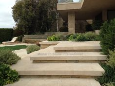 Right this way! Loving the clean lines of these beautiful limestone steps.