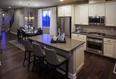 The kitchen of the Lawson model by Richmond American Homes in Cadence. Richmond American Homes, Richmond Homes, Oak Ridge, Home Ownership, K2, New Construction, Mudroom, Home Kitchens, Building A House
