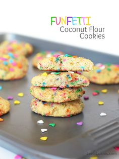 Coconut Flour Funfetti Cookies (Gluten and Dairy Free)