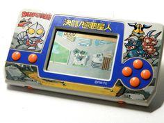 80s Retro Bandai LCD Handheld Game Ultraman Club vs. Aliens MIJ Great Condition #Bandai
