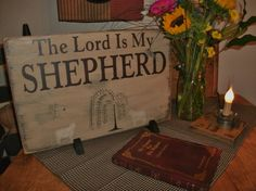 custom the Lord is my shepherd sign by salmonfallsprims on Etsy