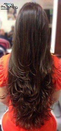 50 Ideas Haircut Ondulado Largo For 2019 Long Layered Haircuts, Haircuts For Long Hair, Long Hair Cuts, Hairstyles Haircuts, Beautiful Long Hair, Gorgeous Hair, Medium Hair Styles, Curly Hair Styles, Hair Highlights
