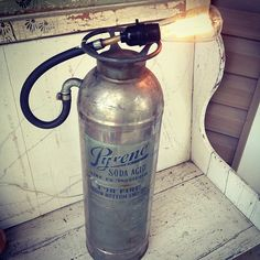 Amazing fire extinguisher lamp from Zassy's Treasures & Designs!