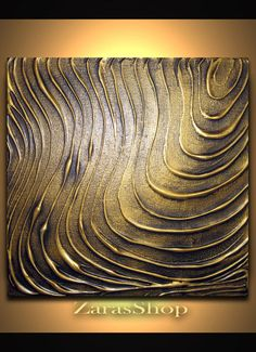 Original Modern Wall Art Abstract Contemporary Gold by ZarasShop