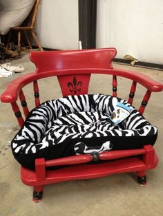 Pet Bed made out of an end table End table dog bed