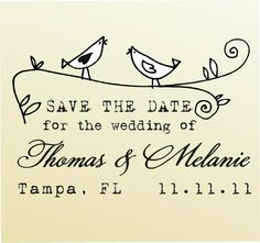 SAVE THE DATE acrylic block mounted  Stamp by lovetocreatestamps, $39.95